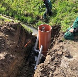 Peilgestuurde drainage door middel van een PVC-put